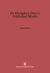 Cover: Sir Humphry Davy's Published Works