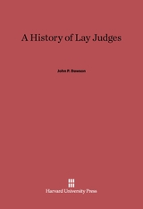 Cover: A History of Lay Judges