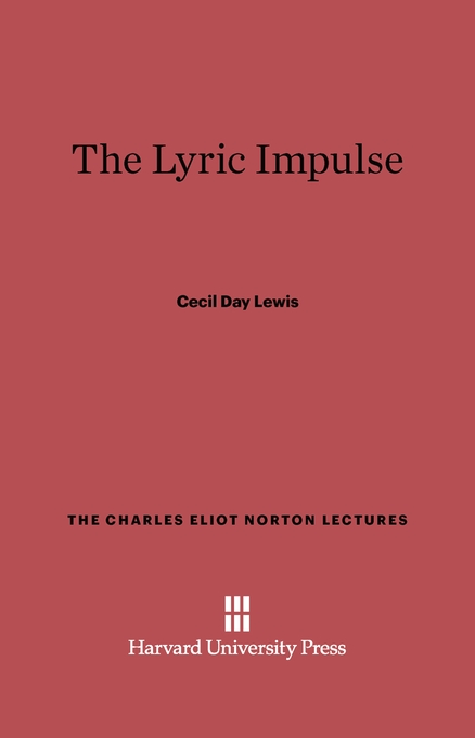 Cover: The Lyric Impulse, from Harvard University Press