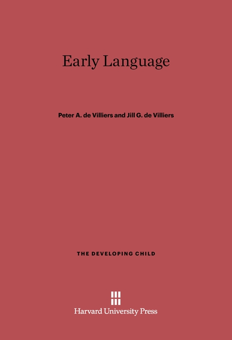 Cover: Early Language, from Harvard University Press