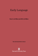 Cover: Early Language