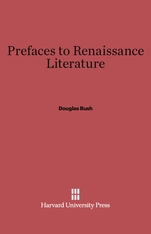 Cover: Prefaces to Renaissance Literature