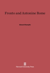 Cover: Fronto and Antonine Rome