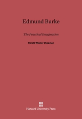 Cover: Edmund Burke: The Practical Imagination