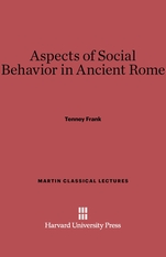 Cover: Aspects of Social Behavior in Ancient Rome