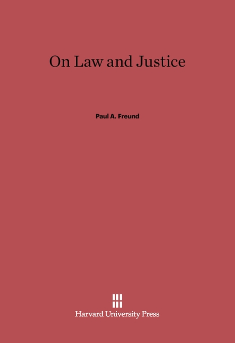 Cover: On Law and Justice, from Harvard University Press