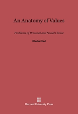Cover: An Anatomy of Values: Problems of Personal and Social Choice