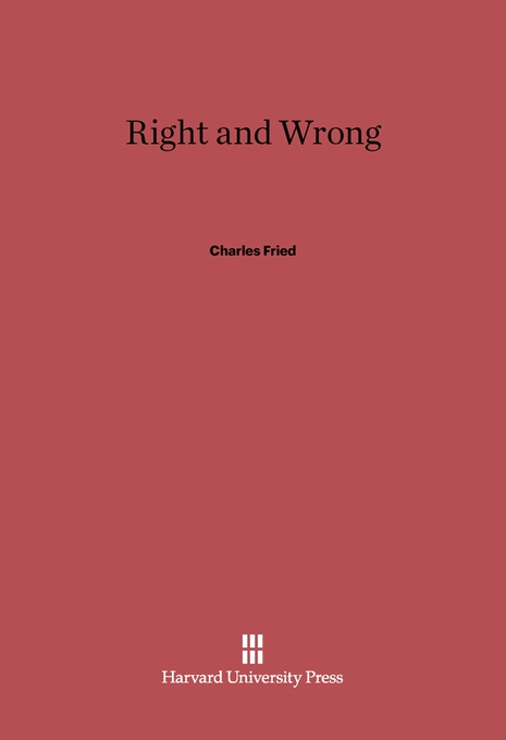 Cover: Right and Wrong, from Harvard University Press