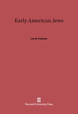 Cover: Early American Jews