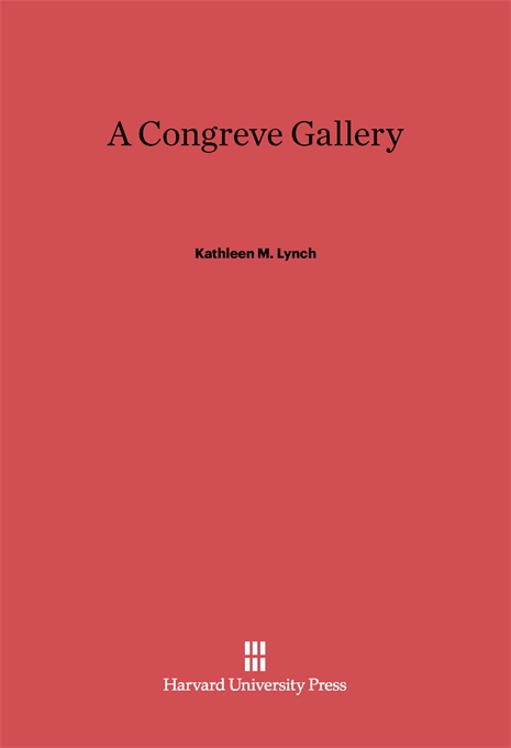 Cover: A Congreve Gallery, from Harvard University Press
