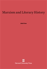 Cover: Marxism and Literary History