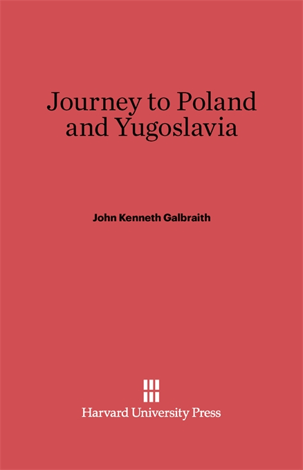 Cover: Journey to Poland and Yugoslavia, from Harvard University Press