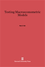 Cover: Testing Macroeconometric Models