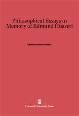 Cover: Philosophical Essays in Memory of Edmund Husserl