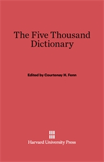 Cover: The Five Thousand Dictionary: A Chinese-English Pocket Dictionary and Index to the Character Cards of the College of Chinese Studies, California College in China, Rev. American ed., based on the fifth Peking ed