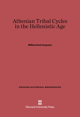 Cover: Athenian Tribal Cycles in the Hellenistic Age