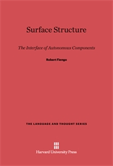 Cover: Surface Structure: The Interface of Autonomous Components