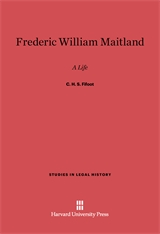 Cover: Frederic William Maitland: A Life