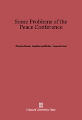 Cover: Some Problems of the Peace Conference