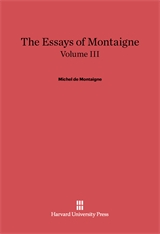 Cover: The Essays of Montaigne, Volume III