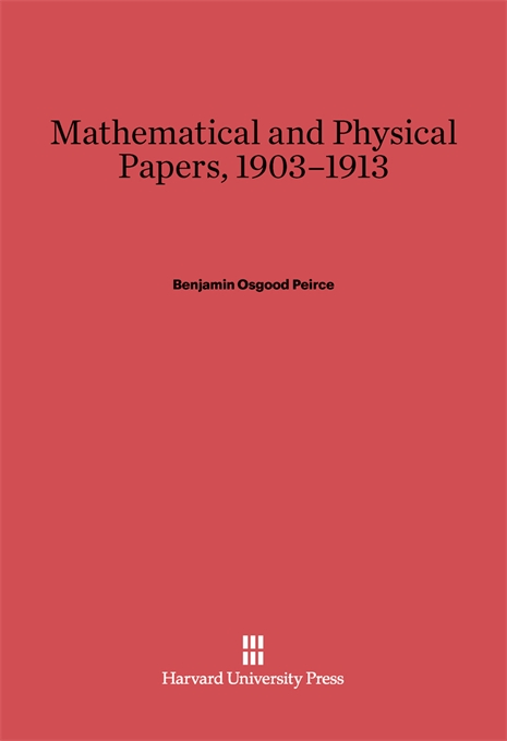 Cover: Mathematical and Physical Papers, 1903–1913, from Harvard University Press