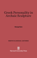 Cover: Greek Personality in Archaic Sculpture