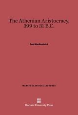 Cover: The Athenian Aristocracy, 399-31 B.C.
