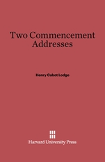 Cover: Two Commencement Addresses