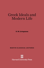 Cover: Greek Ideals and Modern Life in E-DITION