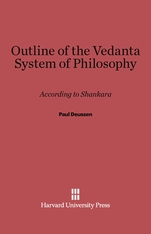 Cover: Outline of the Vedanta System of Philosophy: According to Shankara