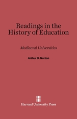 Cover: Readings in the History of Education: Mediaeval Universities