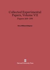 Cover: Collected Experimental Papers, Volume VII: Papers 169–199