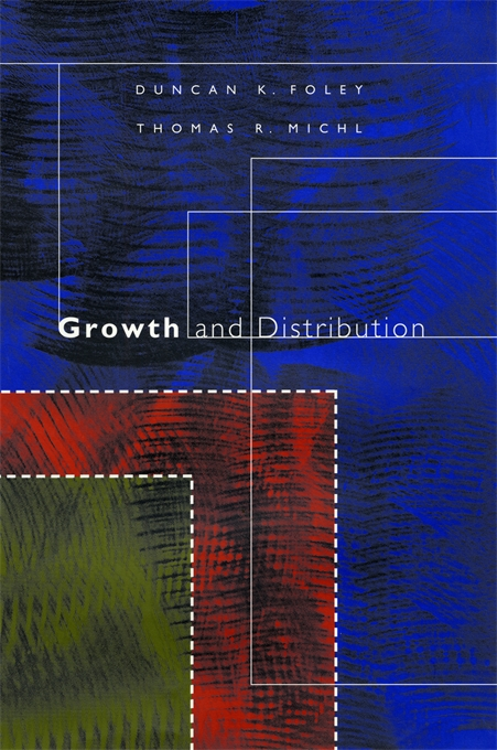 Cover: Growth and Distribution, from Harvard University Press