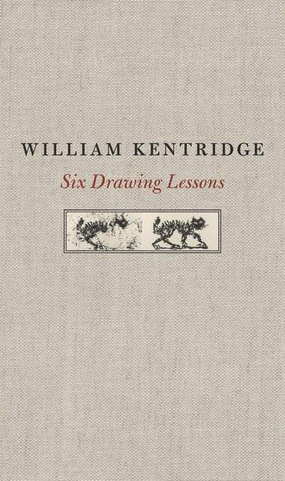 Cover: Six Drawing Lessons, by William Kentridge, from Harvard University Press