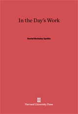 Cover: In the Day's Work