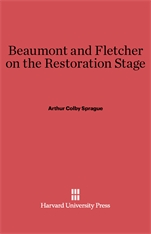 Cover: Beaumont and Fletcher on the Restoration Stage in E-DITION