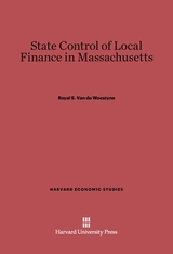 Cover: State Control of Local Finance in Massachusetts