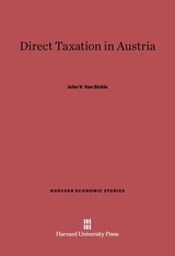 Cover: Direct Taxation in Austria