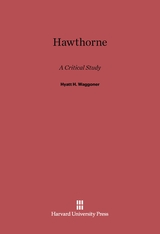 Cover: Hawthorne: A Critical Study, Revised Edition