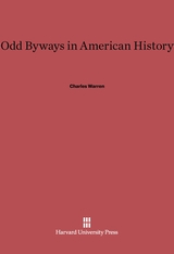 Cover: Odd Byways in American History