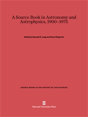 Cover: A Source Book in Astronomy and Astrophysics, 1900–1975