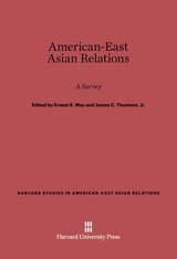 Cover: American-East Asian Relations: A Survey