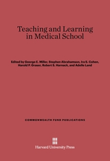 Cover: Teaching and Learning in Medical School