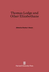 Cover: Thomas Lodge and Other Elizabethans