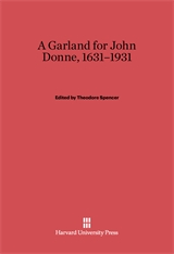 Cover: Garland for John Donne, 1631-1931