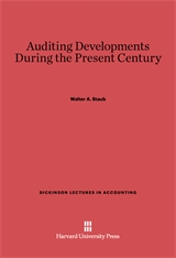 Cover: Auditing Developments During The Present Century