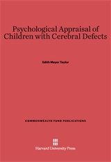 Cover: Psychological Appraisal of Children with Cerebral Defects
