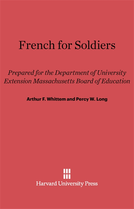 Cover: French for Soldiers, from Harvard University Press