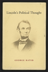Cover: Lincoln's Political Thought, by George Kateb, from Harvard University Press