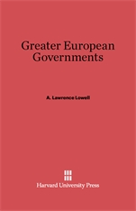 Cover: Greater European Governments: Revised Edition